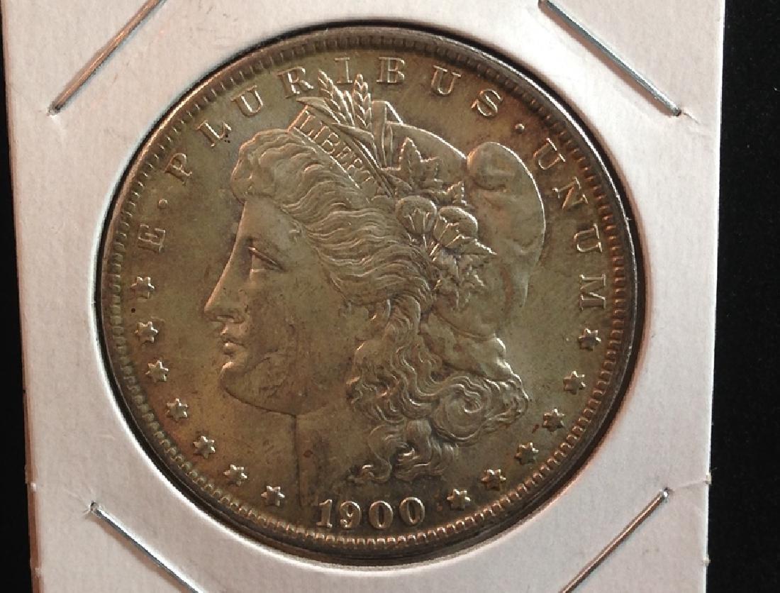 1900 O Morgan Silver Dollar top shelf