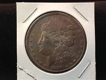 1890 Morgan Silver Dollar Toned