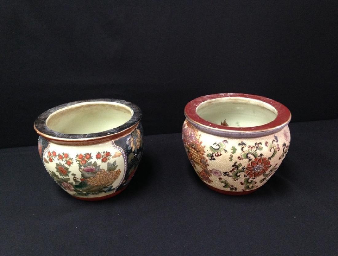 Set (2) Vintage New England Pottery Koi Planters.