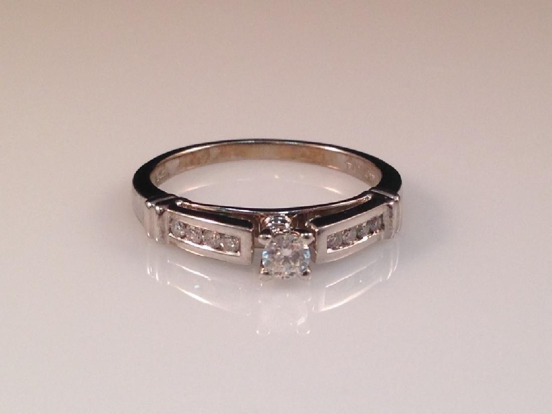 14K WG Diamond Engagement Ring.
