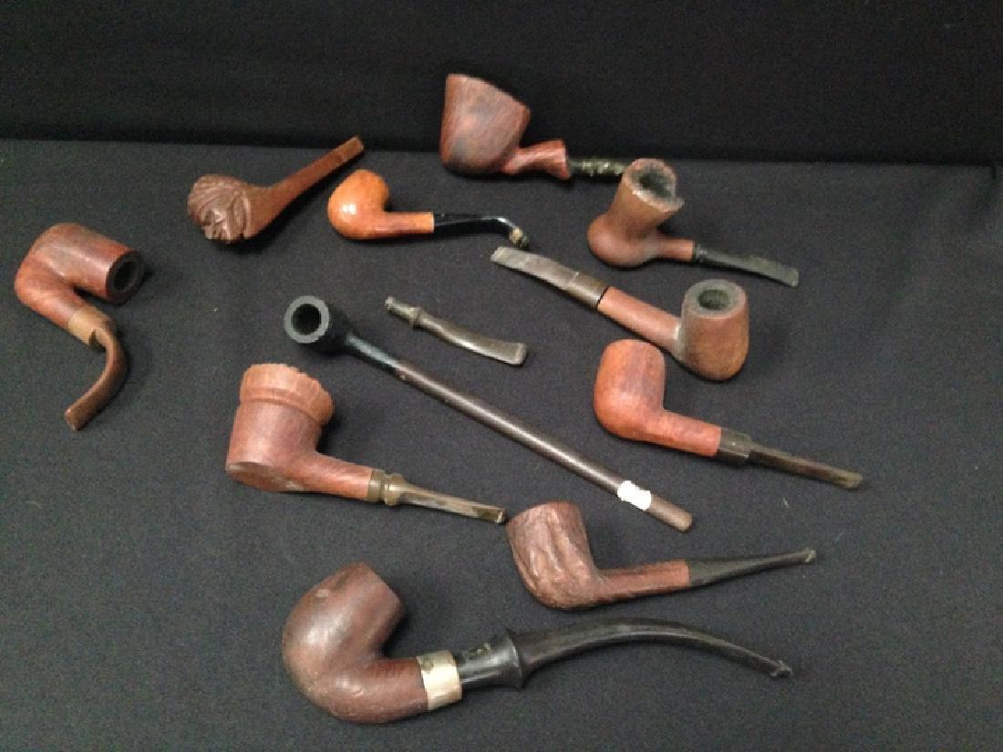 Lot (11) Vintage Tobacco Smoking Pipes.