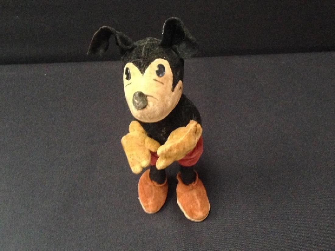 Early 1930's Steiff Velveteen Mickey Mouse Doll.