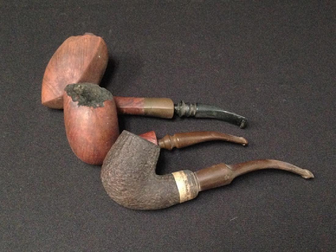 Lot of (3) Vintage Tobacco Smoking Pipes.