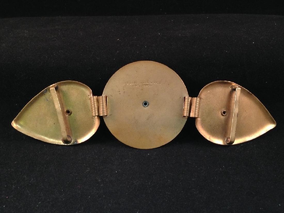 Vintage Brass Belt Buckle Signed Ben Kirschenbaum. - 4
