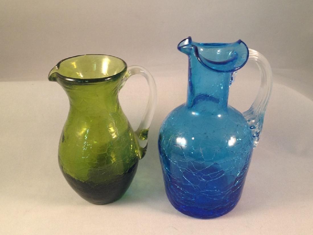 Lot (6) Pieces of Crackle Glassware. - 4