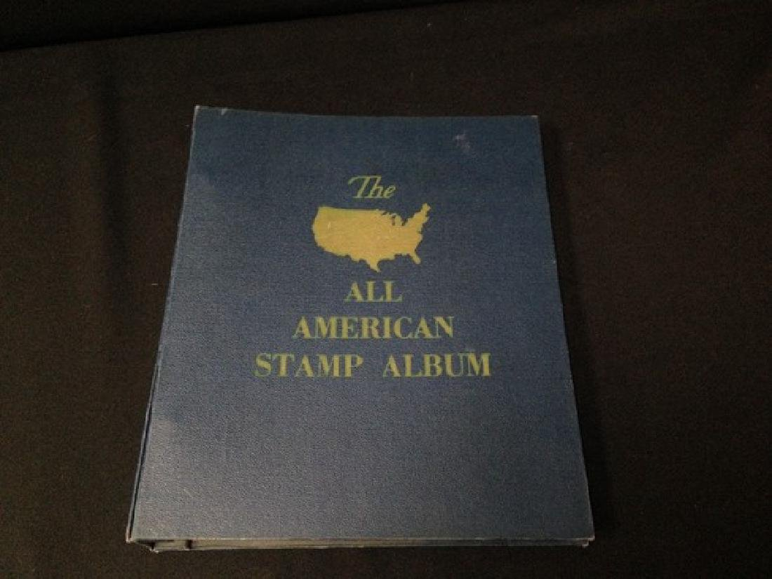 The All American Stamp Album w/Stamps.