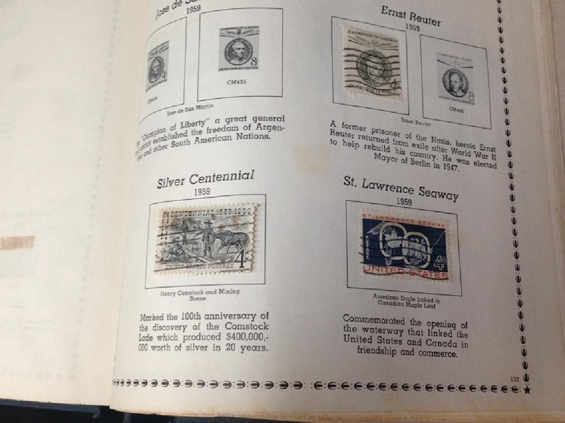 The All American Stamp Album w/Stamps. - 5