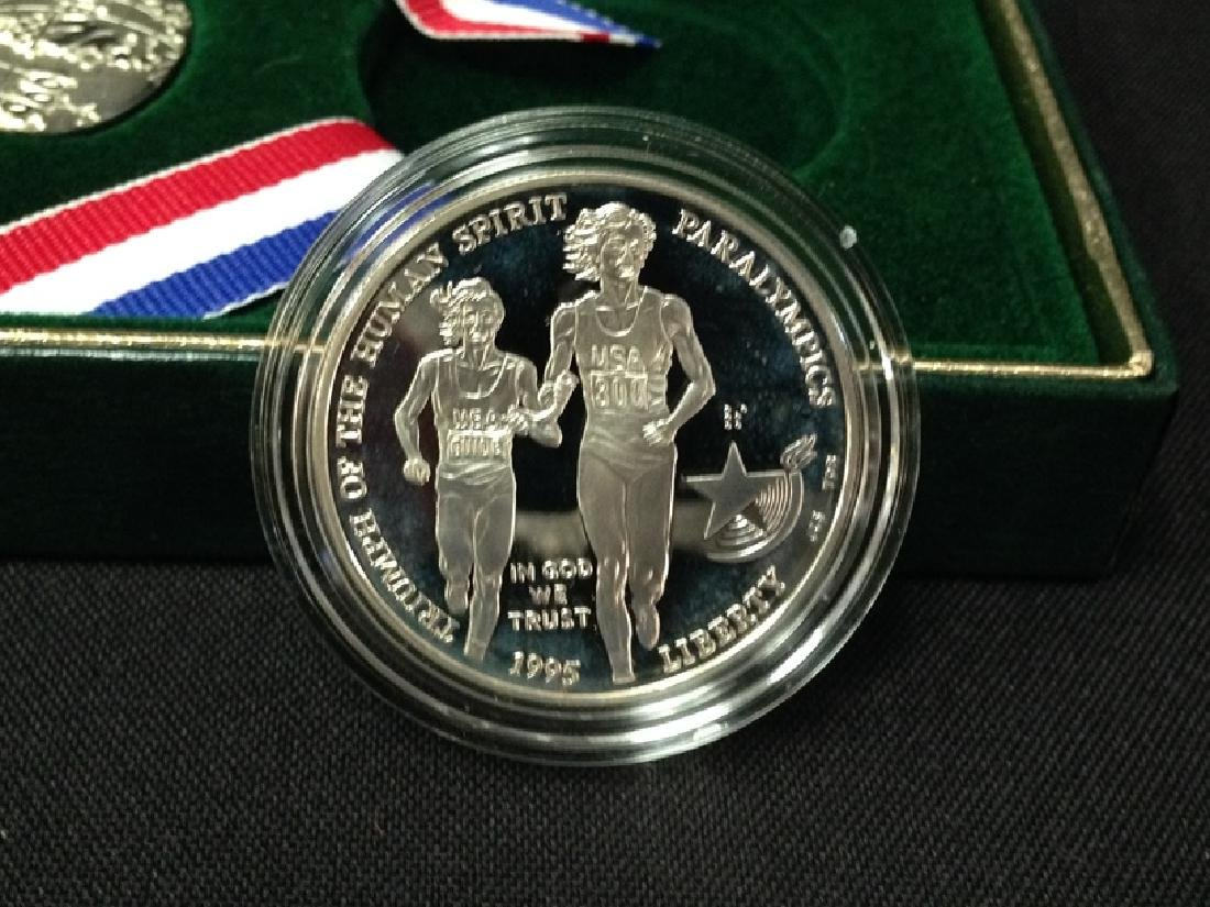 1995 Blind Runner Silver Dollar w/COA - 4