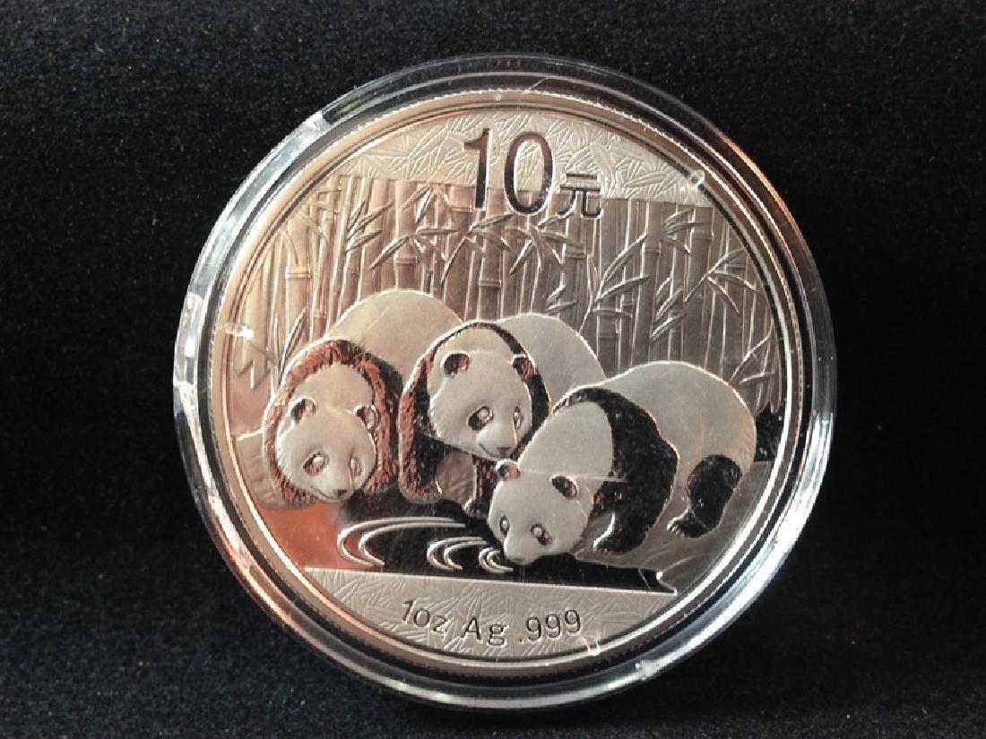2013 Panda 10 Yuan Silver Coin