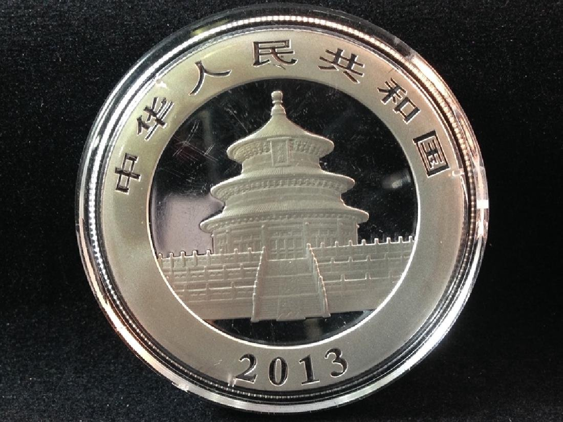 2013 Panda 10 Yuan Silver Coin - 2