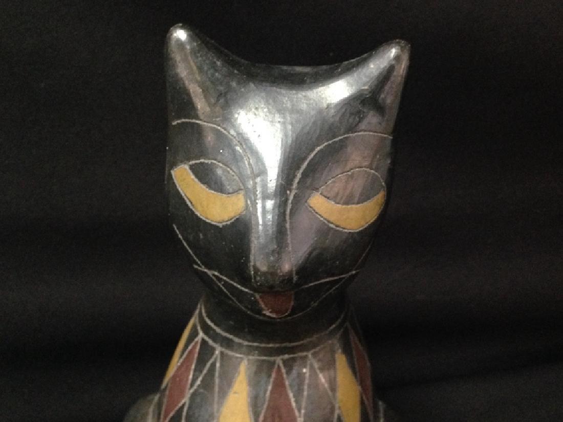 Vintage Black Cat Sculpture. - 2