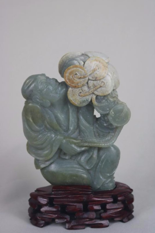 Chinese Ancient Carved Jade Luo Han