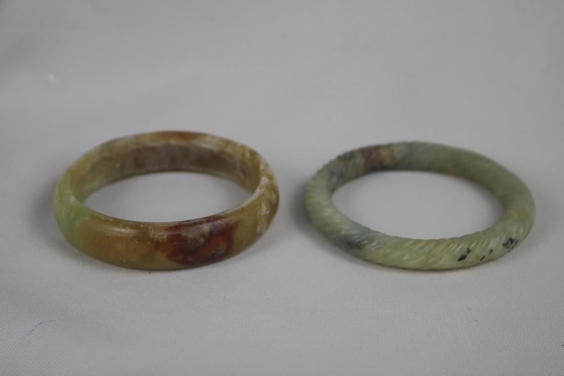 Two Ancient Chinese Jade Bangle