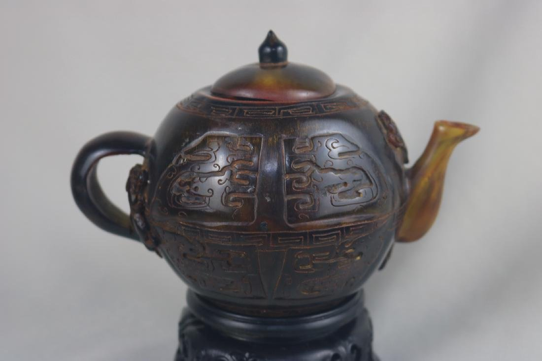 Chinese Horn Teapot - 3