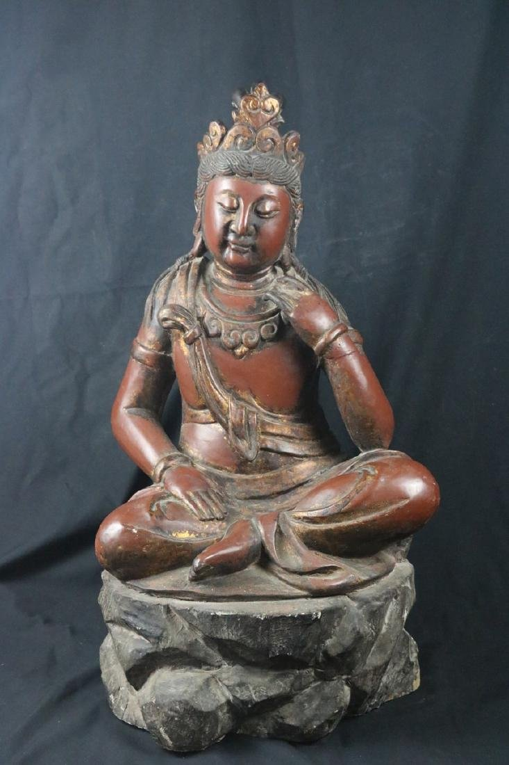 Chinese Wood Guan Yin
