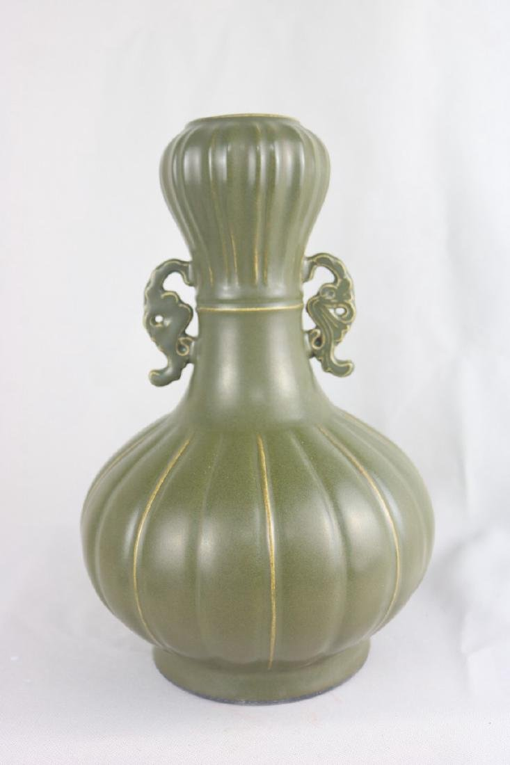 Chinese Tea Dust Glazed Porcelain Vase
