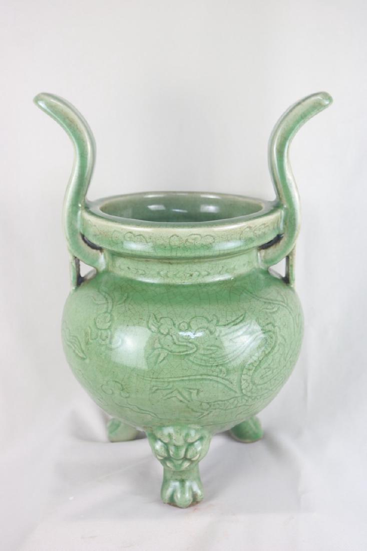 A Fine and Rare Celadon-Glazed Censer