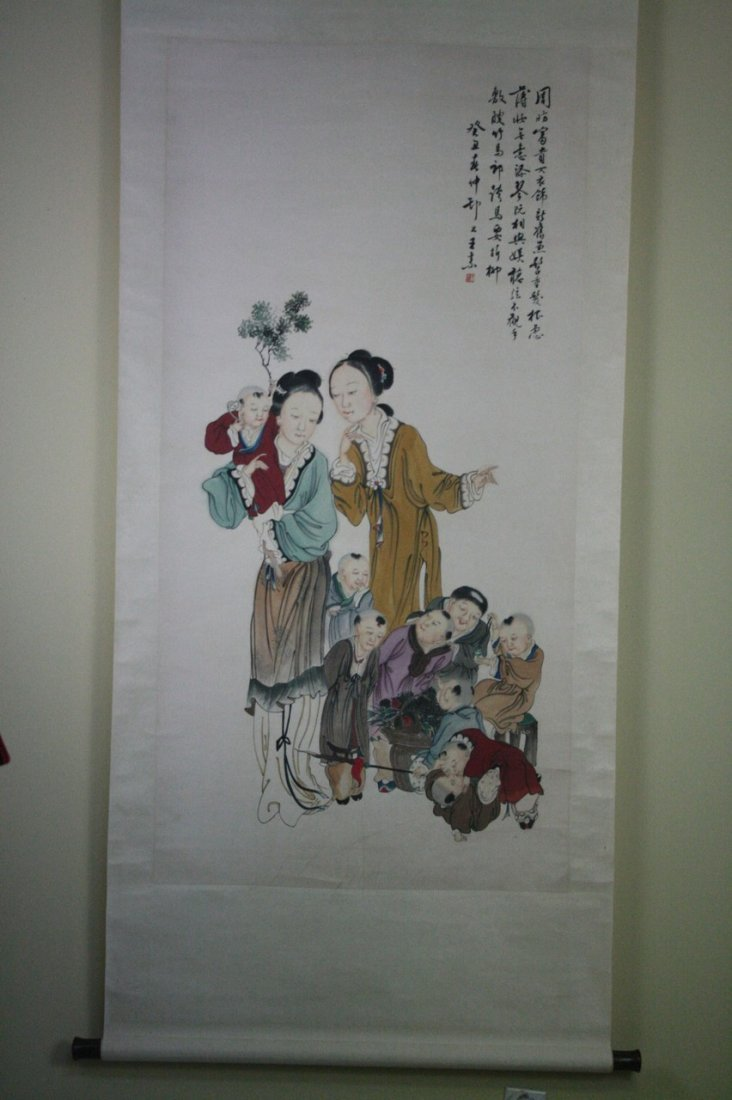 Chinese WC Scroll Painting