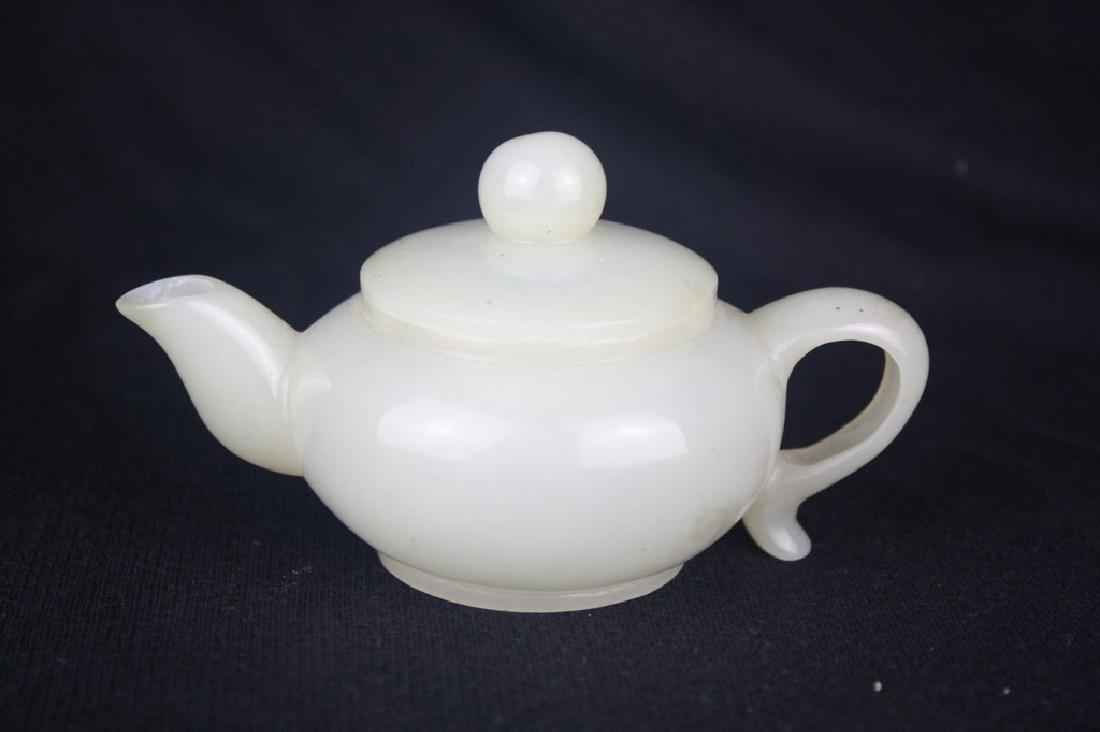 Chinese White Jade Teapot