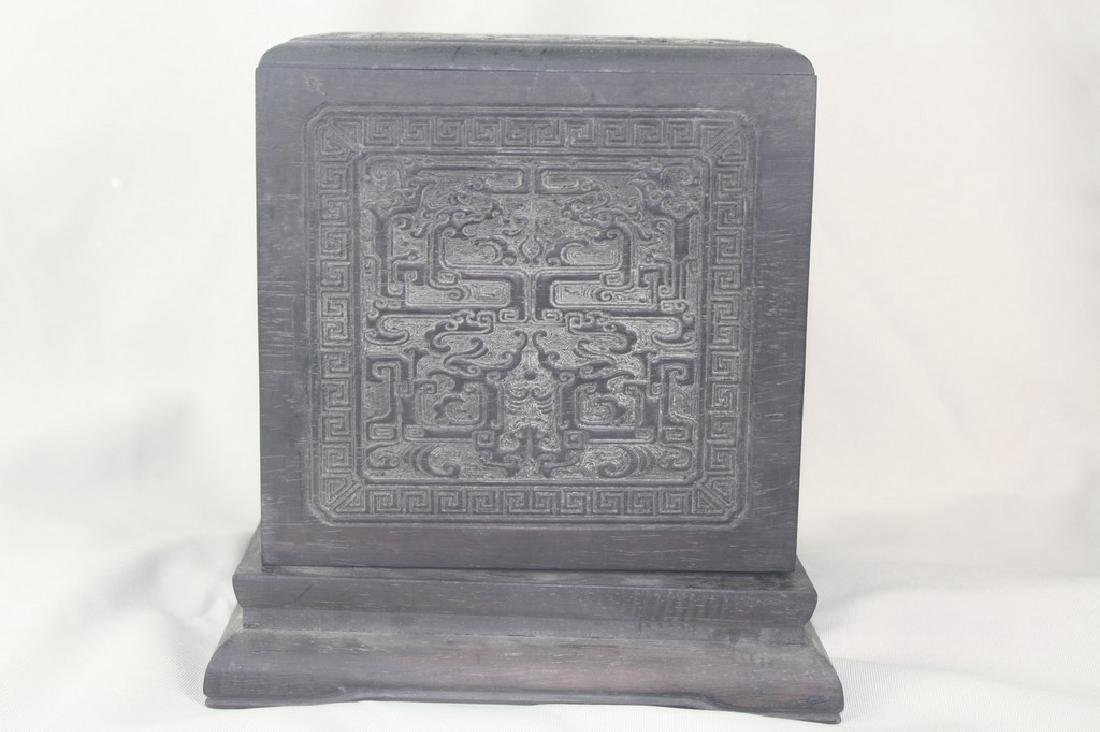 Chinese Carved Spinach Jade Dragon Seal - 6