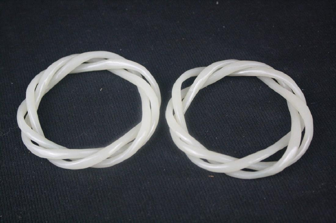 Chinese White Jade Bangle