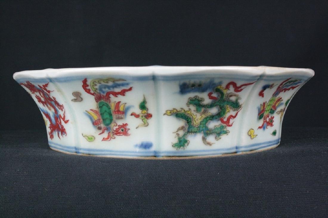 Chinese Doucai Porcelain Basin