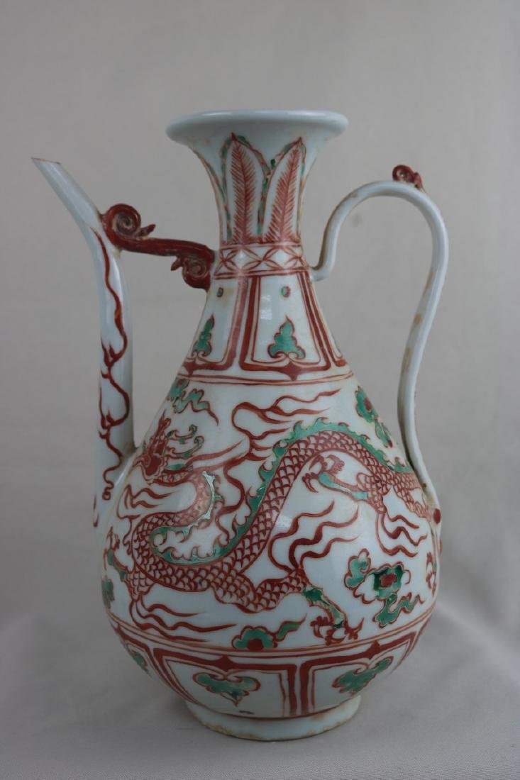 Chinese Doucai Porcelain Ewer