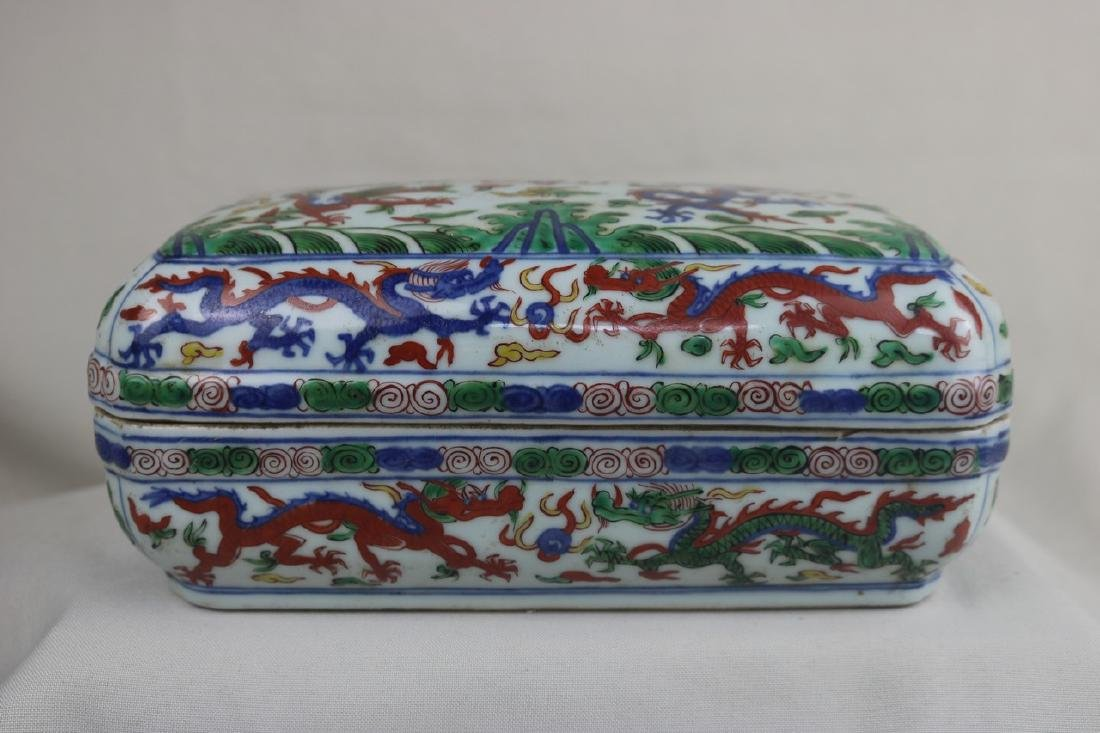 Chinese Doucai Porcelain Case