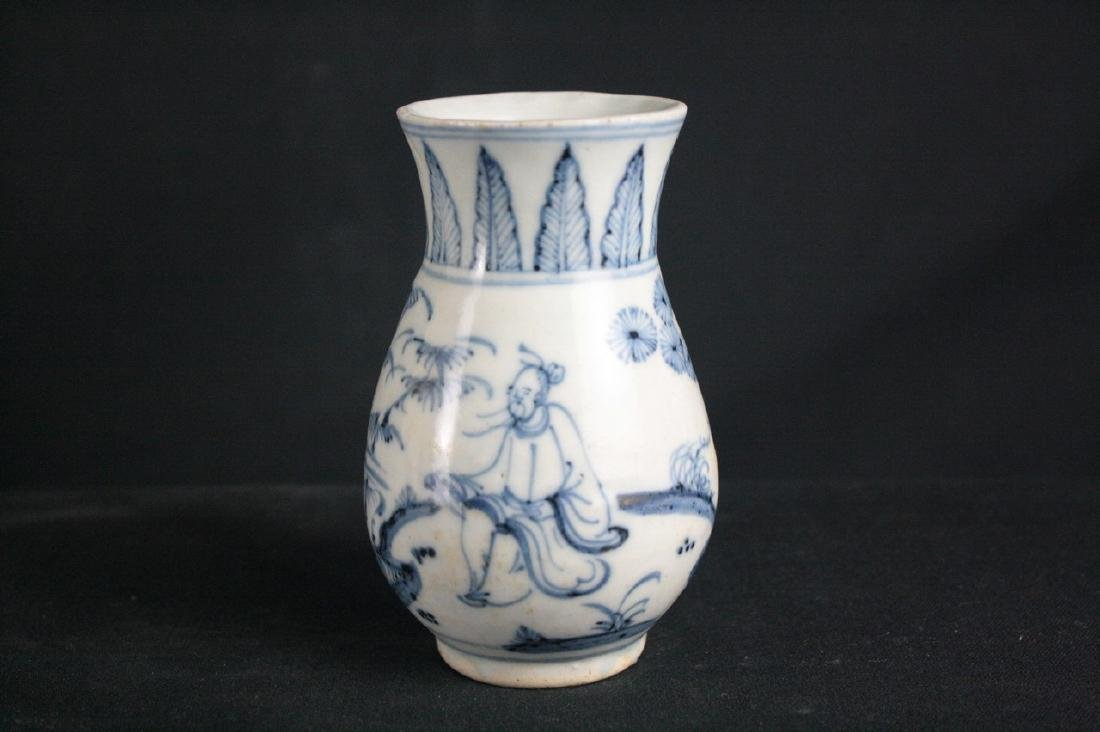 Chinese Blue and White Porcelain Flagon