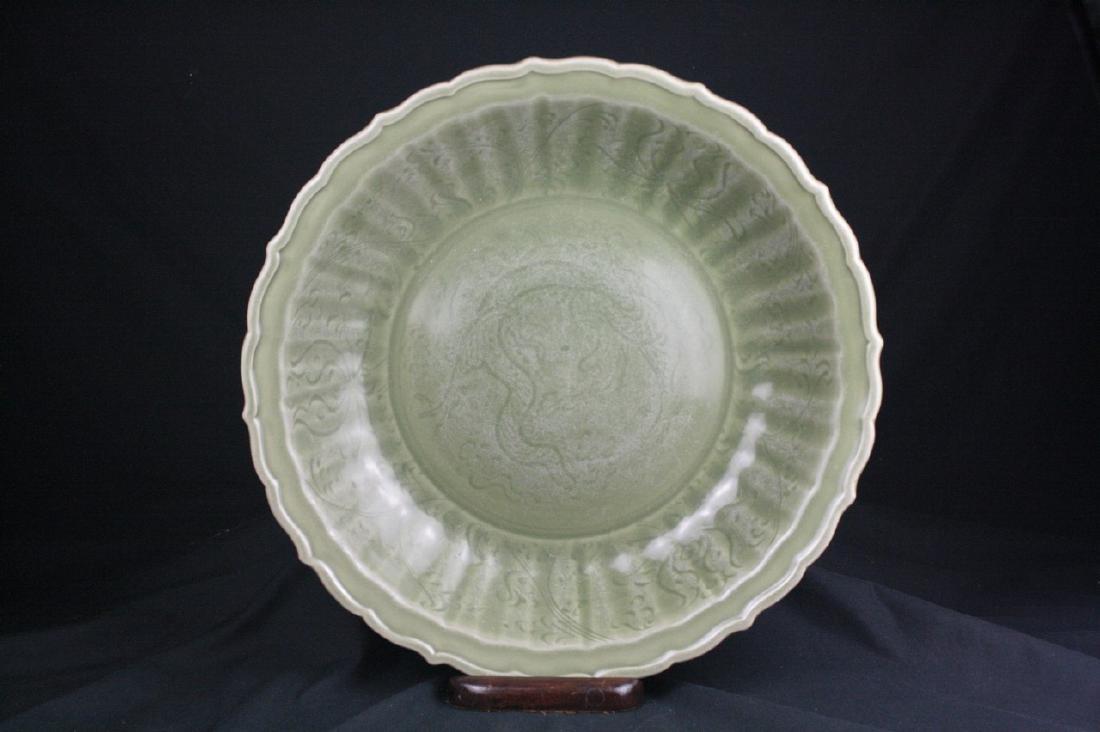Chinese Celadon Glazed Porcelain Charger