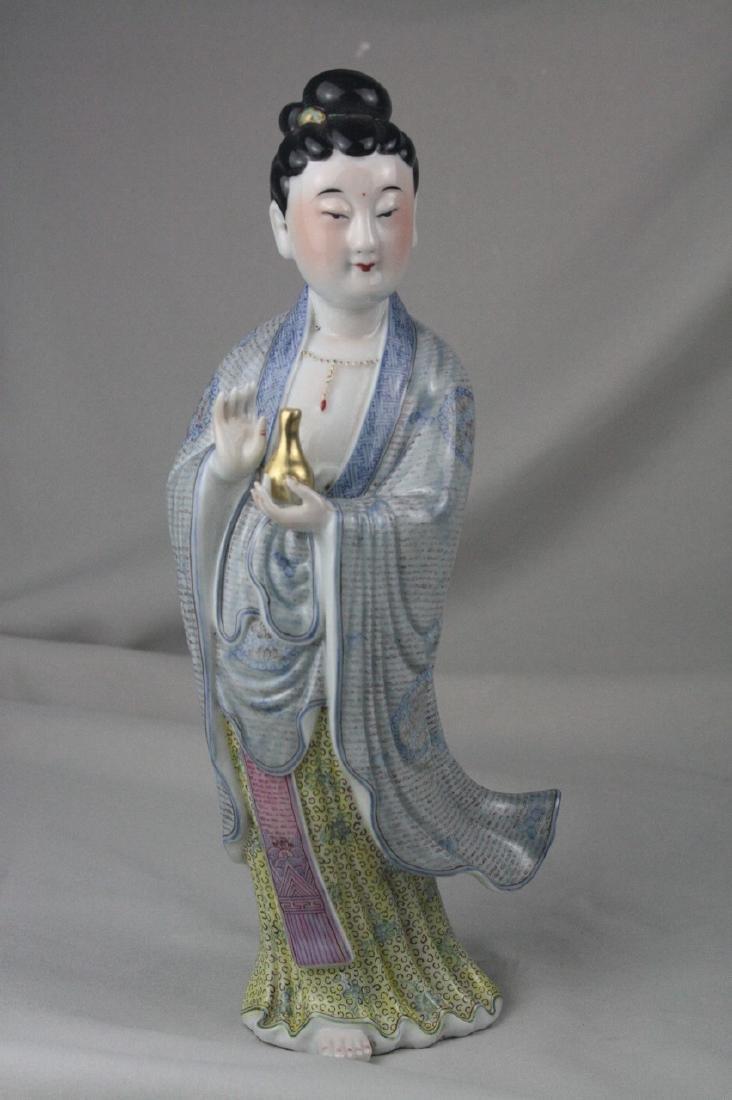 Chinese Famille Rose Porcelain Guan Yin