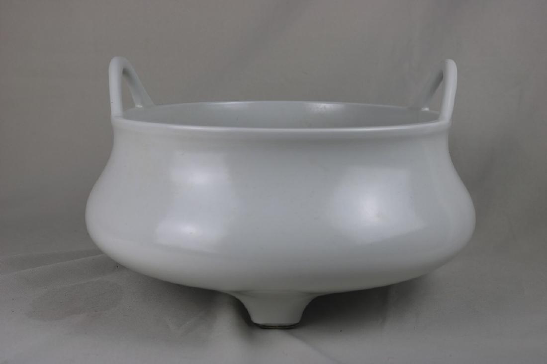 Chinese White Glazed Porcelain Censer