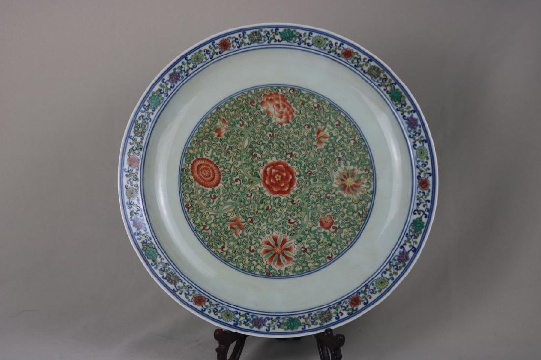 Chinese Doucai Porcelain Charger