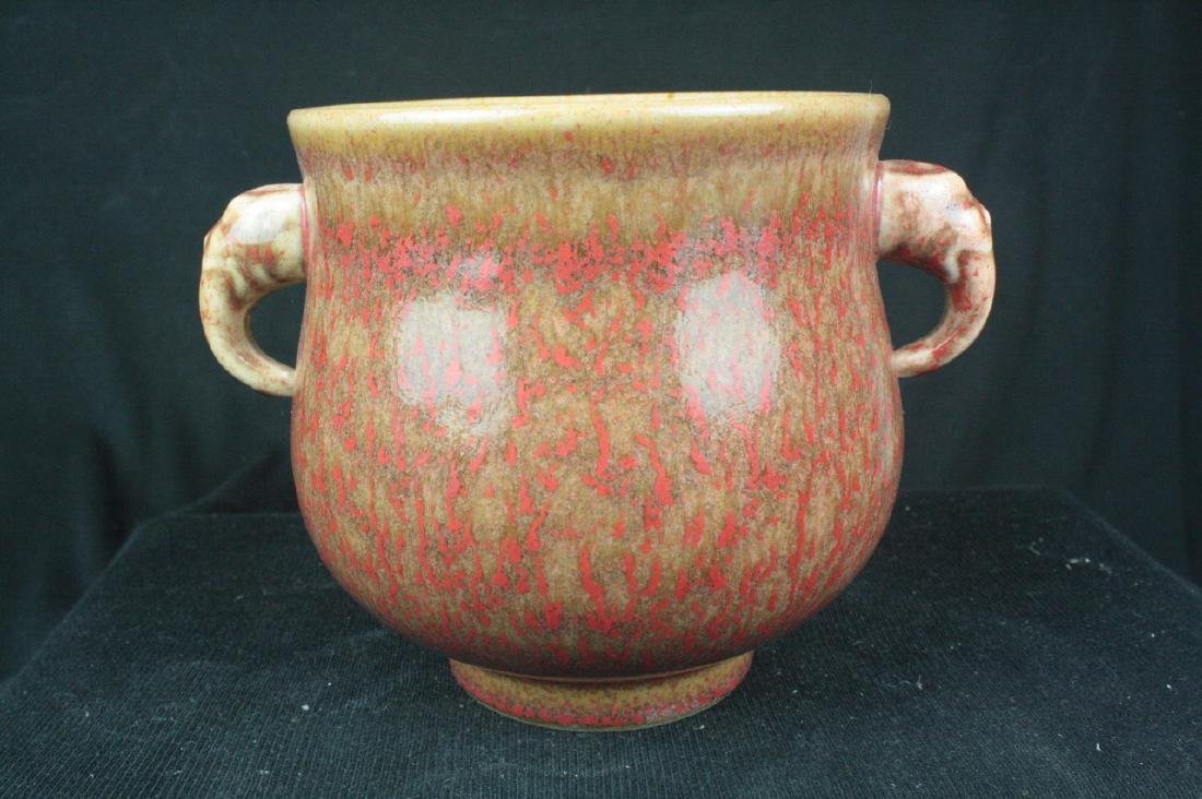 Chinese Red Glazed Chinese Porcelain Censer