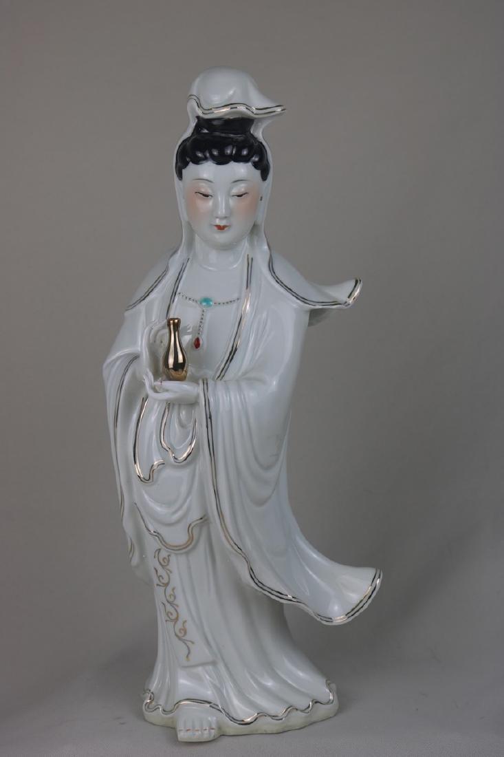 Chinese White Glazed Porcelain Guan Yin
