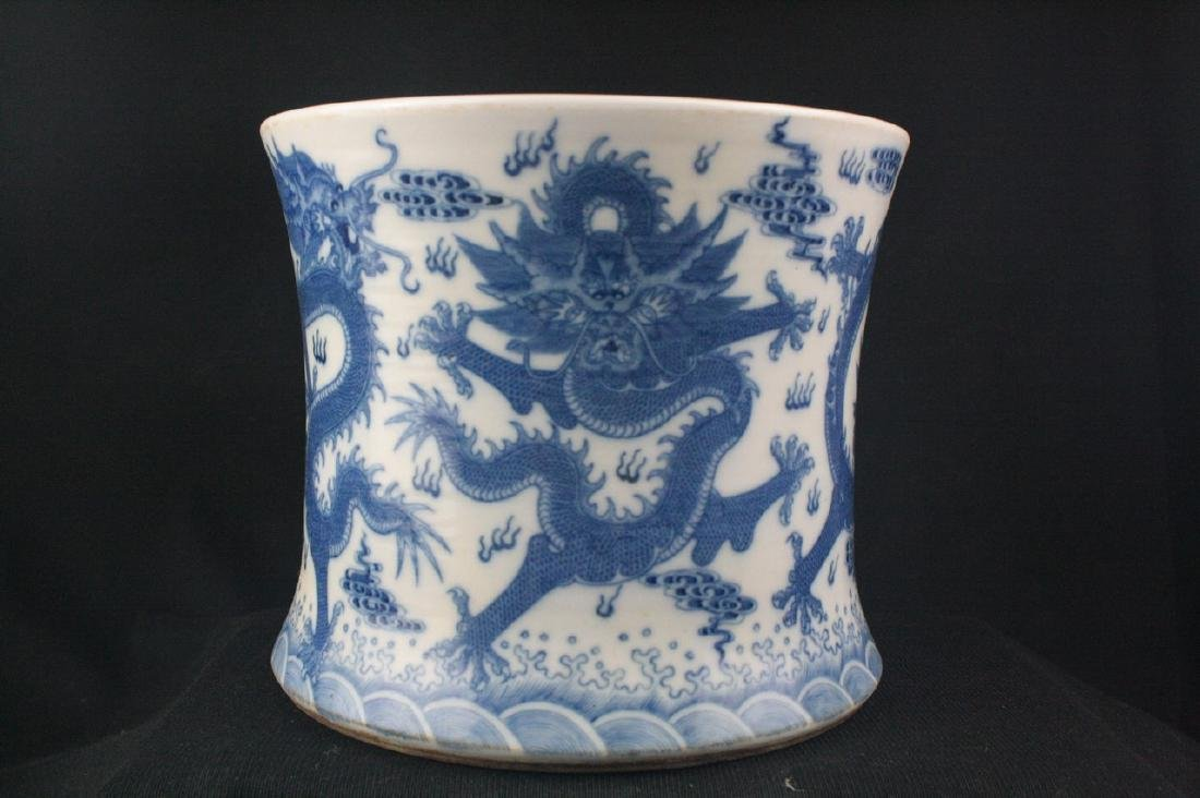 Chinese Blue and White Porclean Brush Pot