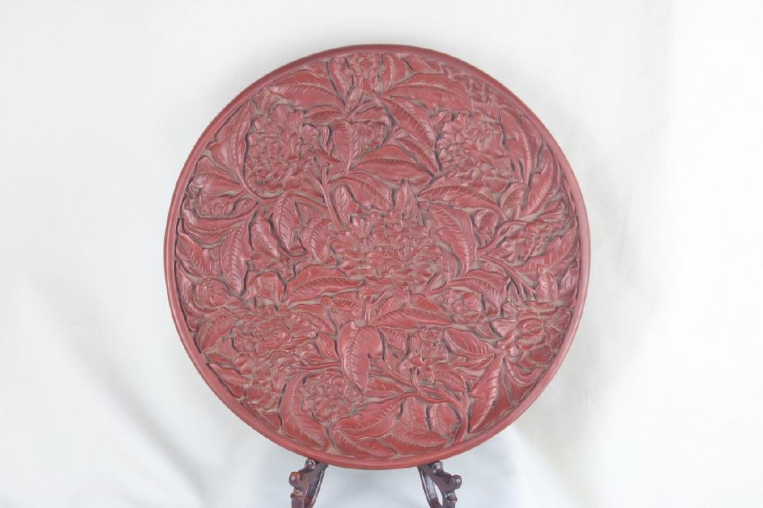 Chinese Lacquer Plate