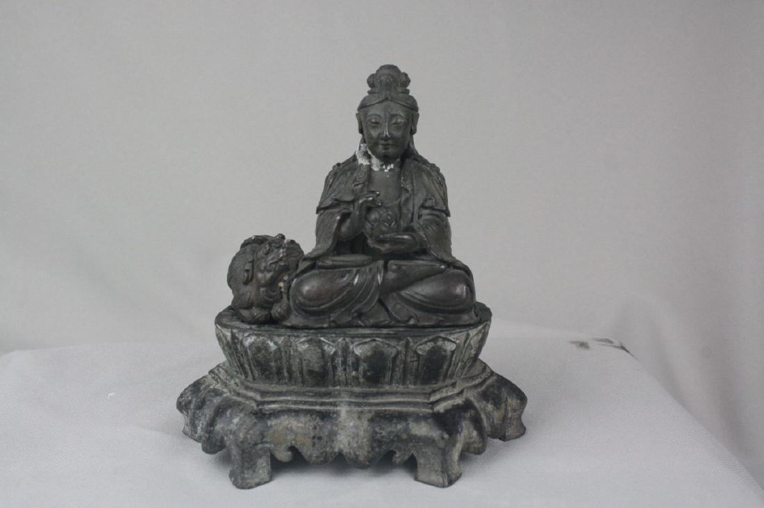 Chinese Bronze Guan Yin