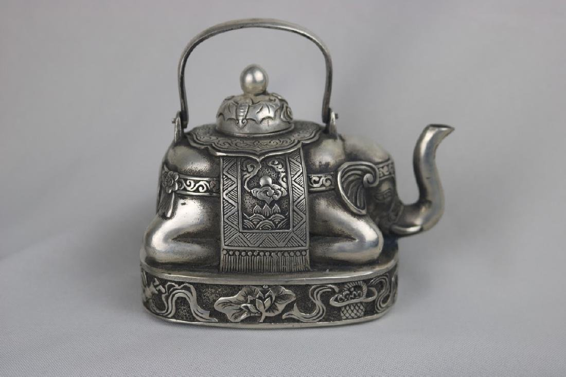 Chinese Silver Ewer