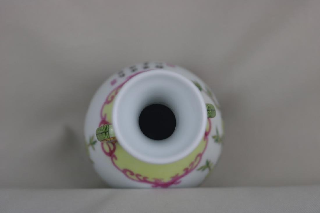 Chinese Enamel Porcalin Vase - 2