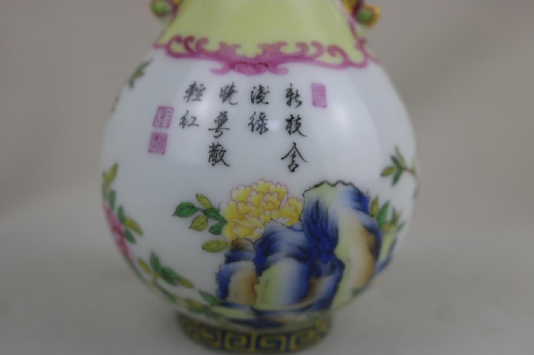 Chinese Enamel Porcalin Vase - 4