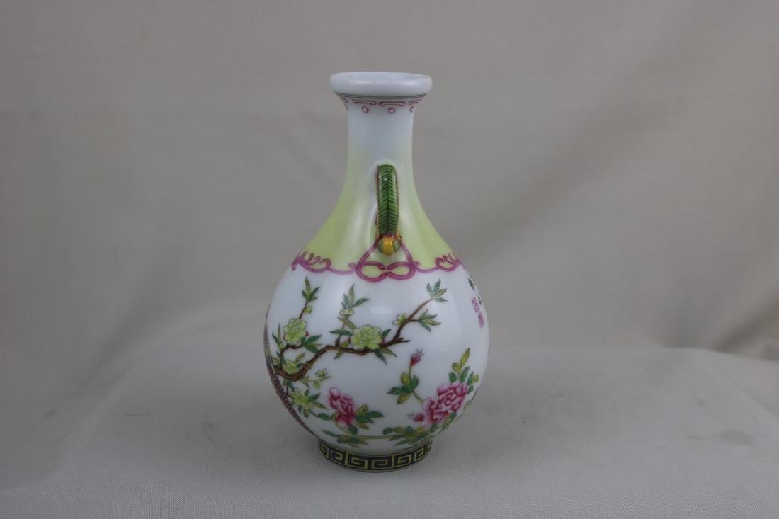 Chinese Enamel Porcalin Vase - 6