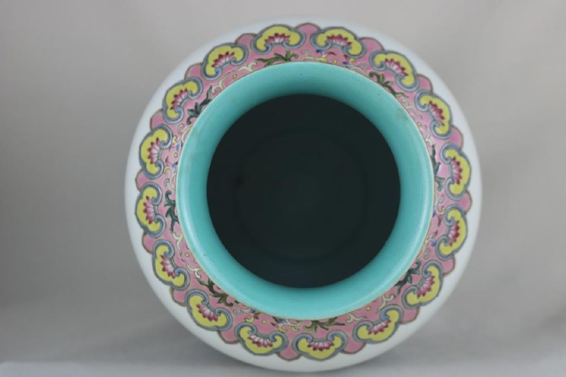 Chinese Famille Rose Porcelain Vase - 8