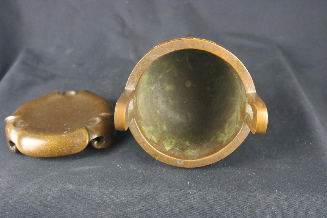Chinese Tripod Bronze Censer - 4