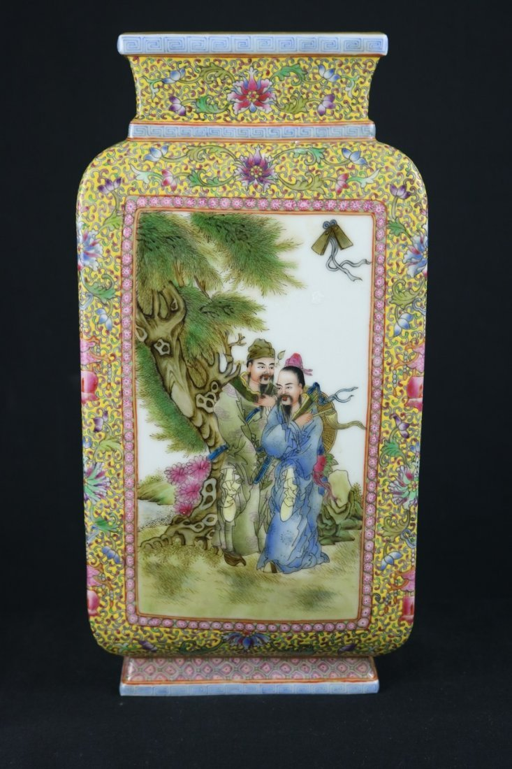 Chinese Polychrome Enamel Porcelain Vase