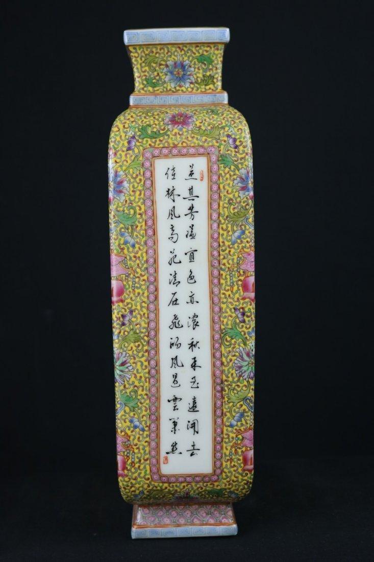 Chinese Polychrome Enamel Porcelain Vase - 4