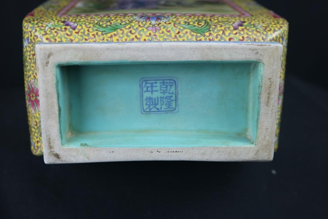 Chinese Polychrome Enamel Porcelain Vase - 6