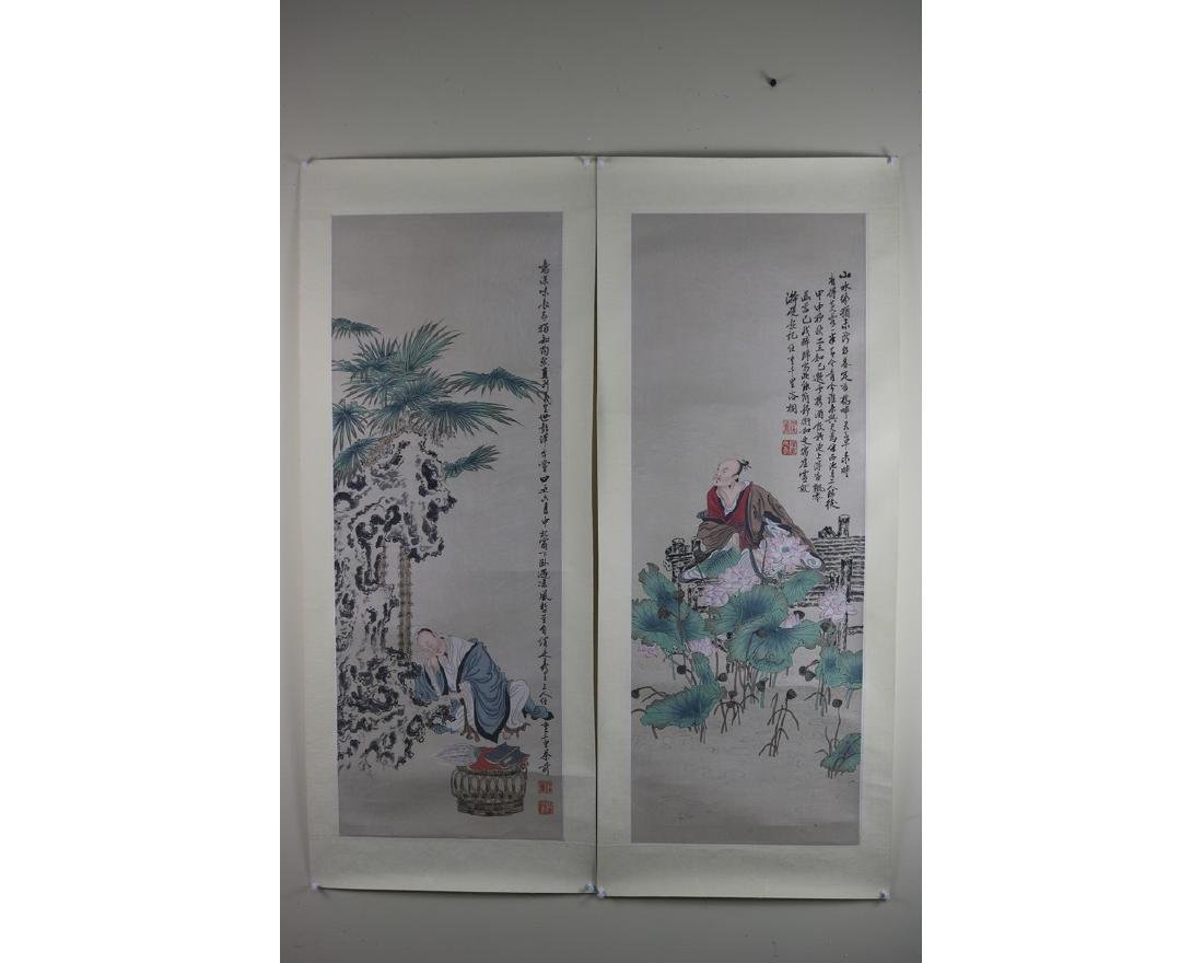 A Pair of Chinese Painting