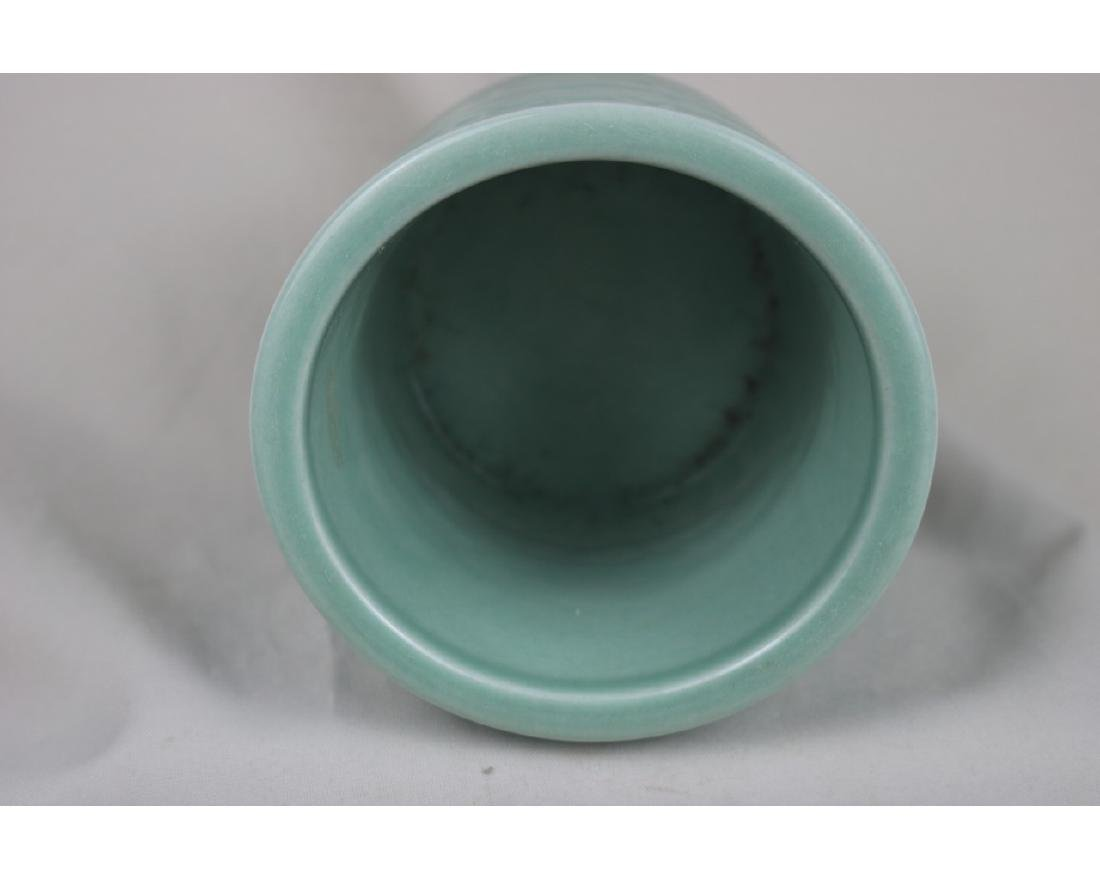Chinese Celadon Glazed Porcelain Brush Pot - 3