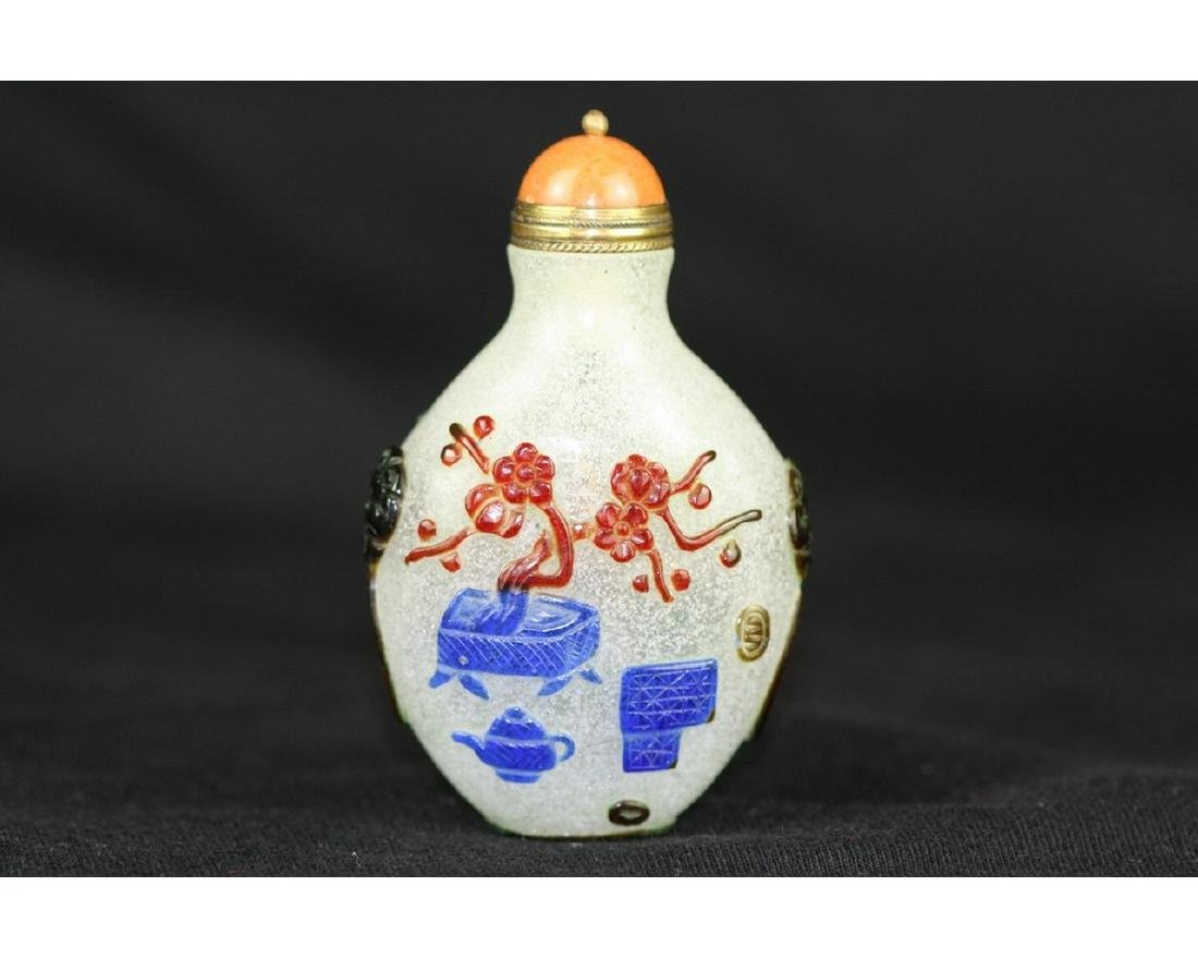 Chinese Beijing Glass Snuff Bottle